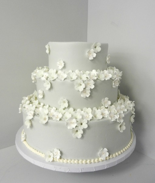 1478711030965 Gray With White Sugar Flowers Danvers wedding cake
