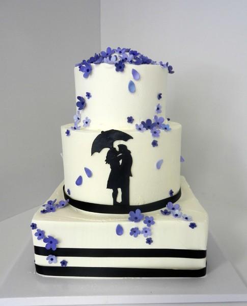 1478711062076 Silhouette Danvers wedding cake
