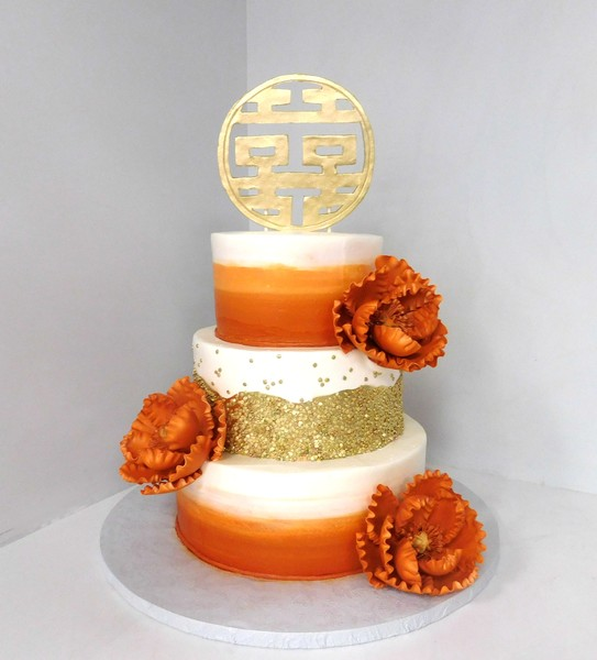 1478711488928 Double Happiness Wedding Danvers wedding cake