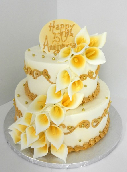 1478715658356 Calla Lily 50th Anniversary E Danvers wedding cake