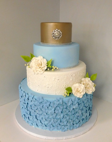 1485192261146 Champagne And Blue Wedding Danvers wedding cake