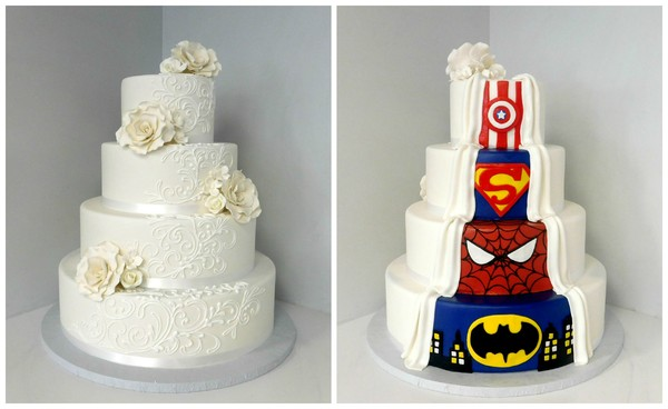 1485192261461 Superhero Wedding Collage Danvers wedding cake
