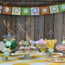 Outdoor candy buffet design.