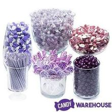 220x220 sq 1490212993 6c6f600358993559 purple candy buffet assortment 129124 im3