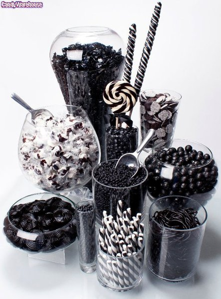 Black White Candy and Cookies Chocolates Decorations ...