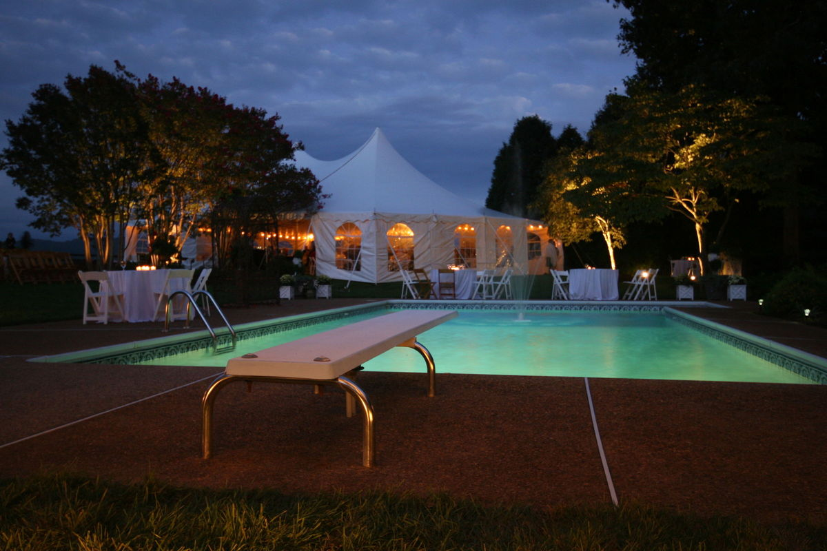 Fds tents event rentals charlottesville va weddingwire for Pool designs under 30000