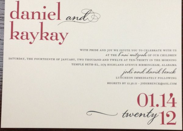photo 14 of Alan's Invitations