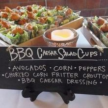 220x220 sq 1527082141 d3a18473bb852711 1498072903396 bbq caesar salad cups with avocado corn peppers