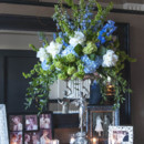 130x130 sq 1375308284495 blue and green wedding arrangement