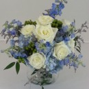 130x130 sq 1474912806473 blue delphinium and white roses 92016