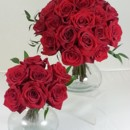 130x130 sq 1474913137532 bride and maid red roses 92016