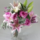 130x130 sq 1474913430552 pink lillies and roses bouquet 92016