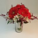 130x130 sq 1474913518795 red gerbera and white alstromeria bouquet 92016