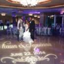 130x130 sq 1420668566988 monogram light audio w dj with bride and groom