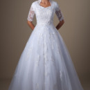 130x130 sq 1429324464812 modest wedding dress 9123 front