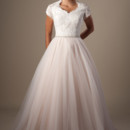 130x130 sq 1429324492201 modest wedding dress 9162m front