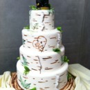 130x130 sq 1405530265843 birch tree and bear cake