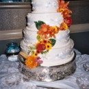 130x130 sq 1405530301322 cascading flowers wedding cake