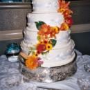 130x130 sq 1405530301322 cascading flowers wedding cake