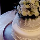 130x130 sq 1405530350612 two tier fondant wedding cake