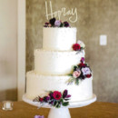 130x130 sq 1490195074624 3 tier round with dots and floral arranging