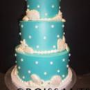 130x130 sq 1388426462063 pearls  shells beach wedding cake cop