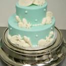 130x130 sq 1388426483391 tiffany blue beach wedding cake 2 cop