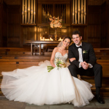 220x220 sq 1501885028892 bride and groom in front of organ