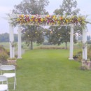 130x130 sq 1445875370866 chuppah  trellis decorated for ceremony outside
