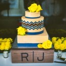 130x130 sq 1464111590854 navy and yellow wedding chevron cake min