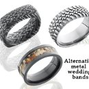 Alternative metal wedding bands