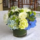 130x130 sq 1467304149559 blue and white centerpiece