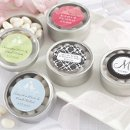 """Simply Sweet"" Round Personalized Candy Tins (Set of 12)"