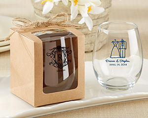 My wedding favors ideas wedding favors photos by my wedding personalized stemless wine glasses favors for bridal showers and weddings loading zoom junglespirit Images