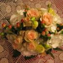 130x130 sq 1369753718080 bridesmaid bouquet white hydrangea and chablis roses