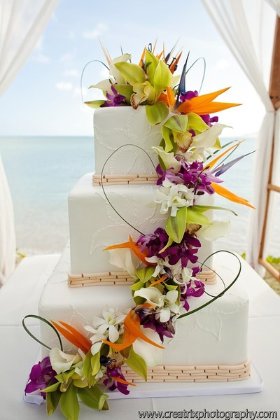 tropical wedding cake ideas cakeworks honolulu hi wedding cake 21276