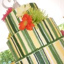 130x130 sq 1265940459735 lewisweddingstripedcakesideangle
