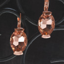 Rose gold and pink amethyst drop earring