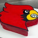 "Italian Buttercream ""Cardinals"" Groom's cake decorated with fondant"