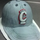 Bearcats Baseball Cap Groom's Cake iced in Italian Buttercream and covered in fondant.