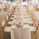 130x130 sq 1458655812190 gold chivari pink tablecloth rental fort myers cal