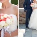 130x130 sq 1406921522316 peach and white bouquet