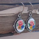 Petite Vintage Cabochon Earrings