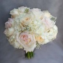 130x130 sq 1427847767557 blush pink peach garden rose babies breath bouquet
