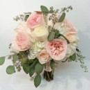 130x130 sq 1427847939357 hydrangea with pink garden rose and eucalyptus bou