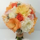 130x130 sq 1428017695380 peach coral pink rose dahlia bouquet 500