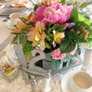 130x130 sq 1428017818835 hot pink green and coral peach centerpiece 500