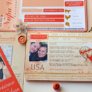 130x130 sq 1381631261627 christina taupe and coral passport and boardding pass invitation 13