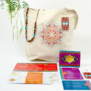 130x130 sq 1382119514789 navea moroccan inspired custom tote bag and welcome kit 2
