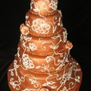 130x130 sq 1275682528735 copperweddingcake1